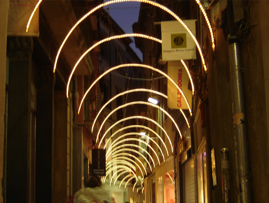 Arcos de luz con manguera led