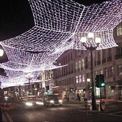 Cómo montar redes aéreas luces LED luces de Navidad