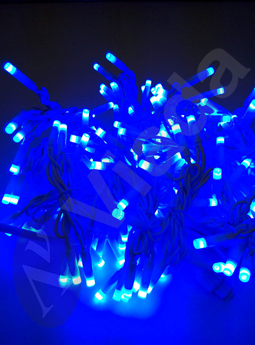 Cortina de Luz led azul