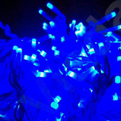 Cortina luz azul led 1X2M
