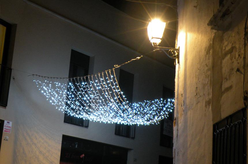 Cortinas de luz estilo horizontal
