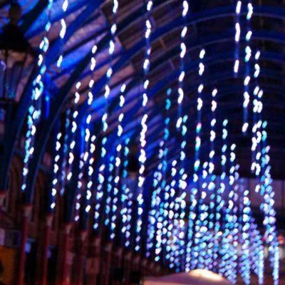 Gotas luz, las luces LED suave movimiento caída