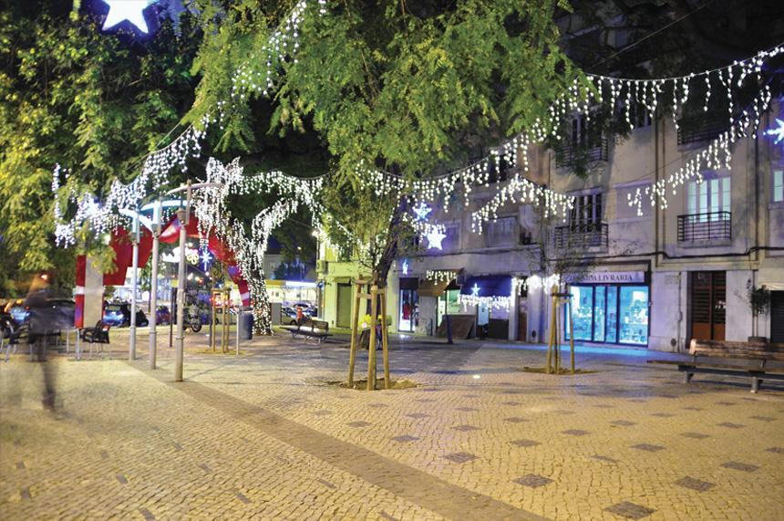 Iluminar árboles con cortina led