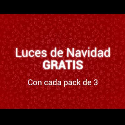 Luces Navidad gratis al comprar pack tres unidades