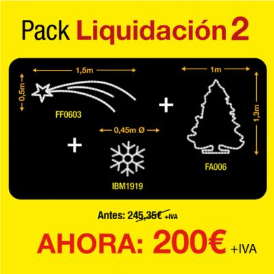 Figuras luces navidad exterior pack de liquidación 2