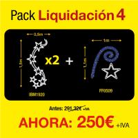 Figuras de luces Navidad -  Pack de liquidación 4