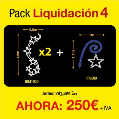 Figuras luces navidad exterior pack de liquidación 4