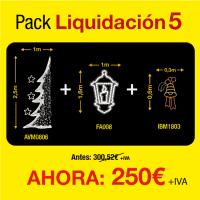 Figuras de luces Navidad -  Pack de liquidación 5