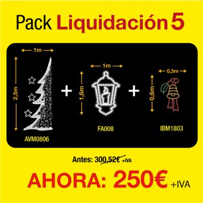 Figuras luces navidad exterior pack de liquidación 5