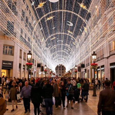 Encender el alumbrado luces Navidad Málaga