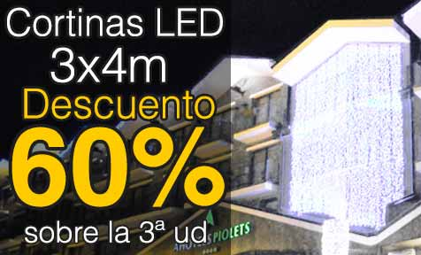 comprar cortinas led 3x4m